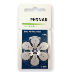 Bateria/Pilha para Aparelho Auditivo Phonak 675