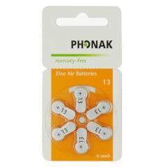 Bateria/Pilha para Aparelho Auditivo Phonak 13